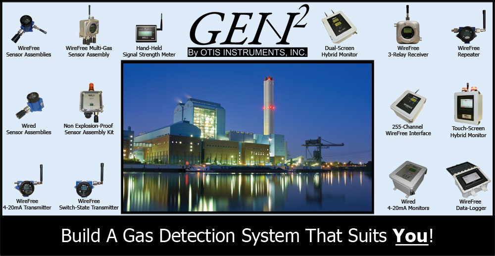 otis instruments single multi channel fixed gas detection wired otis instruments industrial commercial fixed point remote gas detection systems wired or wire sensors