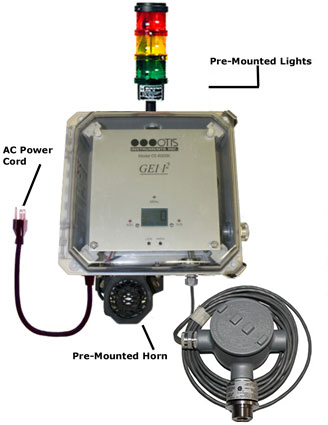 Otis Instruments OI-6000K  Fixed Single Gas Detector_TowerLight